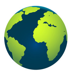 map of the earth globe on white background vector image