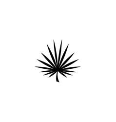 Marijuana cannabis leaf narcotic plant flat icon vector