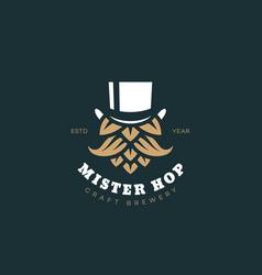Mister hop logo vector