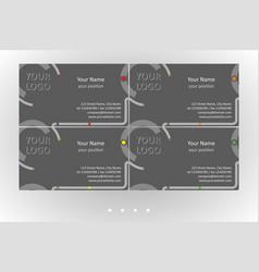 Modern business card templates set vector