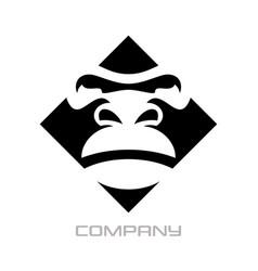 Modern gorilla logo vector