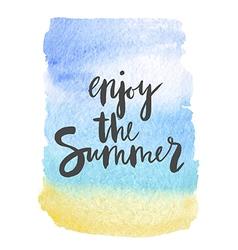 Motivation poster Enjoy the summer Abstract vector