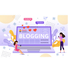 Online blog channel video tutorial advertisement vector