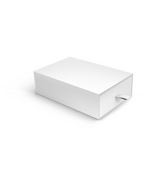 Package cardboard ribbon pull and slide drawer box vector