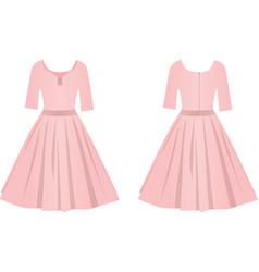 pink elegant dress vector image
