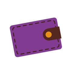 Purple wallet safe money bank concept vector