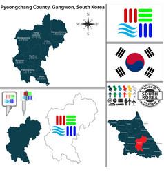 Pyeongchang county in gangwon south korea vector