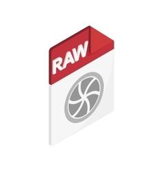 RAW icon isometric 3d style vector