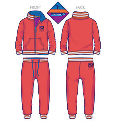Red tracksuit vector