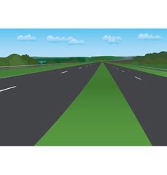 Road under blue sky - landscape vector