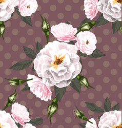 rose seamless pattern8 vector image