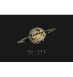 Saturn logo design Planet logo Cosmic logo vector image