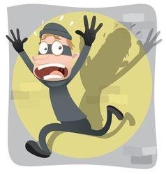 Scared thief vector