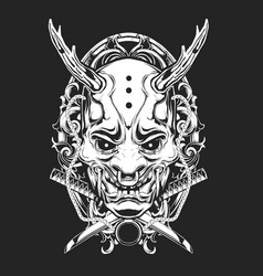 Scary mask ornamental vector