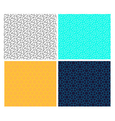 seamless geometric hexagon line pattern vector image