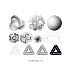 set geometric shapes vector image