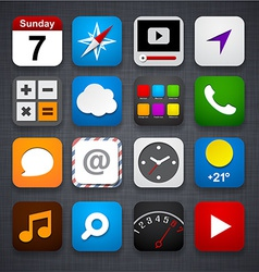 Set of app icons vector image