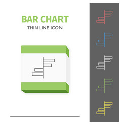 simple line stroked chart or graph icon vector image