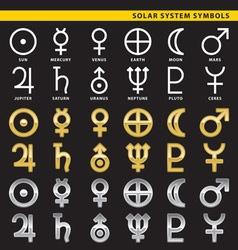 Solar system symbols vector