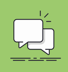 speech bubbles icon line design isolated vector image