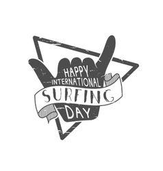 Summer surfing day tattoo design Vacation vector