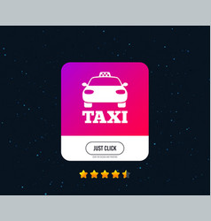 taxi car sign icon public transport symbol vector image