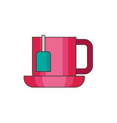 Tea cup flat vector