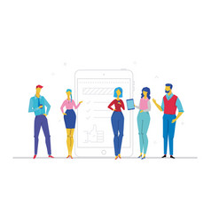 Team work - flat design style colorful vector