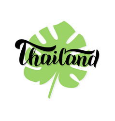 Thailand font text logo trendy lettering type vector