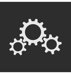 Three white gear wheels vector image