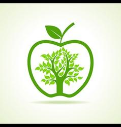 Tree inside apple vector