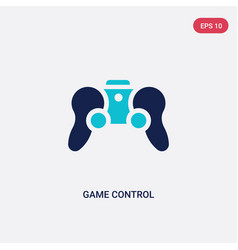 two color game control icon from augmented vector image