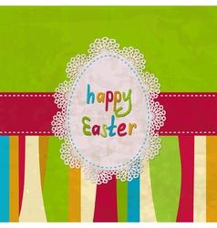 Vintage Easter card vector