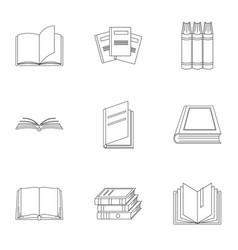 Volume icons set outline style vector