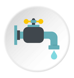 water tap icon circle vector image