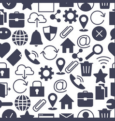 web and computer basic icons vector image