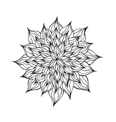 Zentangle black and white flower vector image