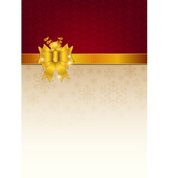 Abstract golden ribbon and background vector image vector image