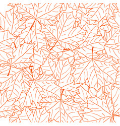 hand drawn maple leaf seamless pattern vector image