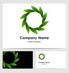 logo design business card template vector image vector image
