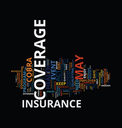 lost your job how to keep your insurance coverage vector image vector image