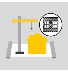 Under construction brick graphic vector