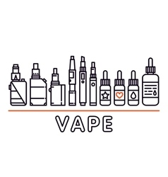 Vape shop isolated template graphic line vector image vector image