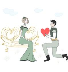 women and men in love vector image