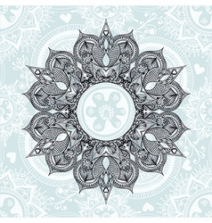 Zentangle stylized Round Indian Arabic Mandala vector image