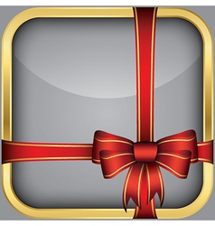 App icon with gift bow vector image vector image