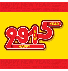creative new year 2015 greeting design vector image