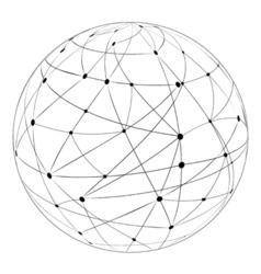 Globus logistics traffic vector image vector image