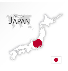 japan map and flag vector image