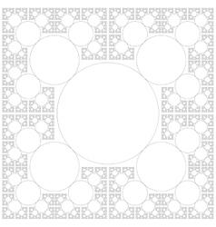 Circle sacral geometry fractal background vector